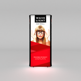 WaveLight Air Wall Light Box Display and Inflatable Sign front view