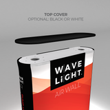 WaveLight Air Wall Light Box Display and Inflatable Sign Optional Top Cover