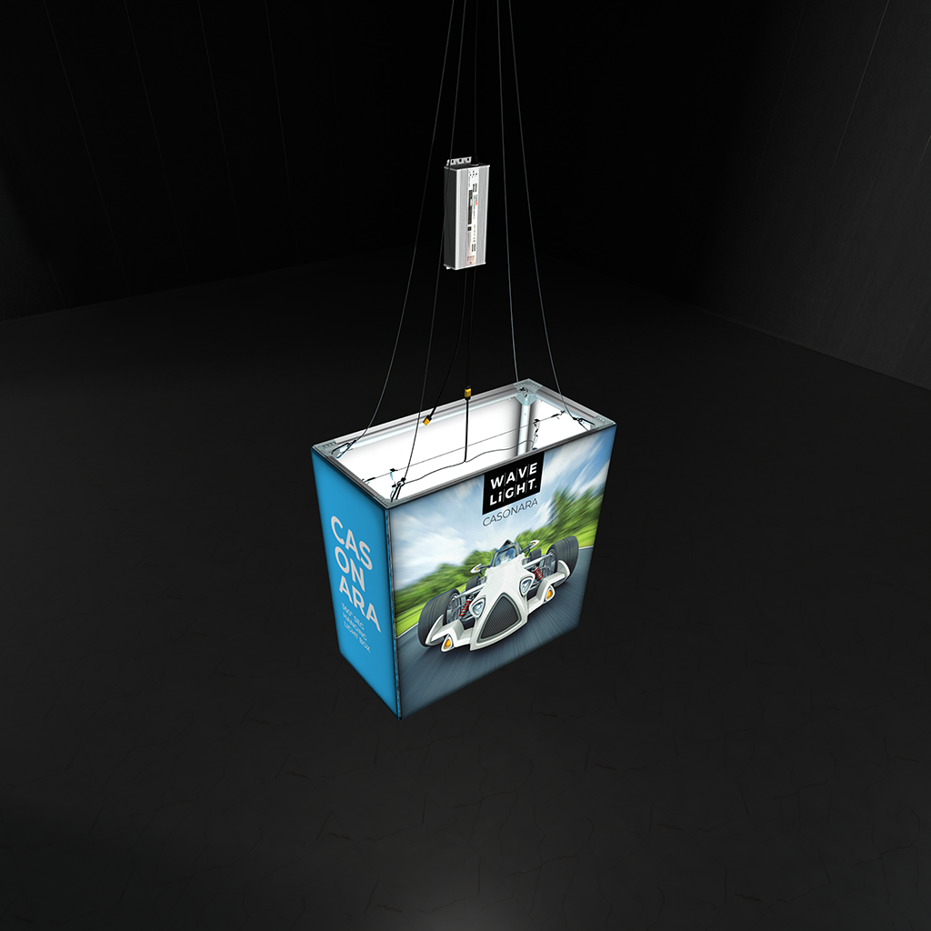 WaveLight® Casonara Blimp Rectangle 360º SEG Hanging  Light Box 100M top view