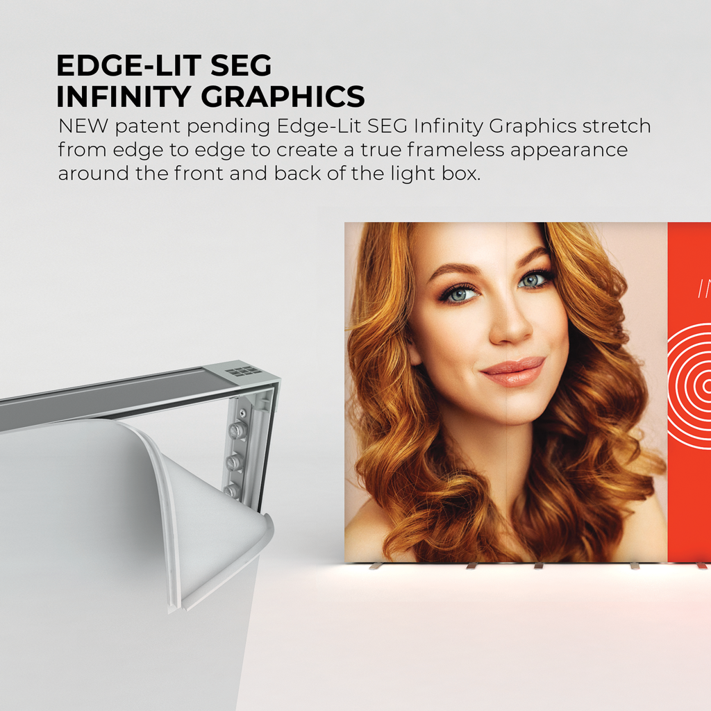 WaveLight® Infinity Edge-Lit light box SEG Infinity Graphics Stretch True Frameless appearance light box