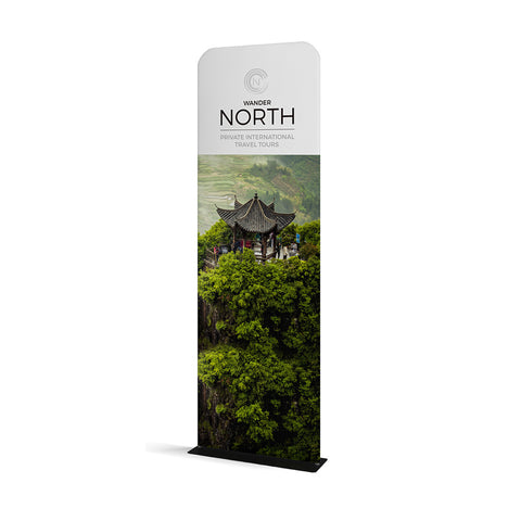 "WaveLine® Banner Stand Tension Fabric Display 36""x89"""