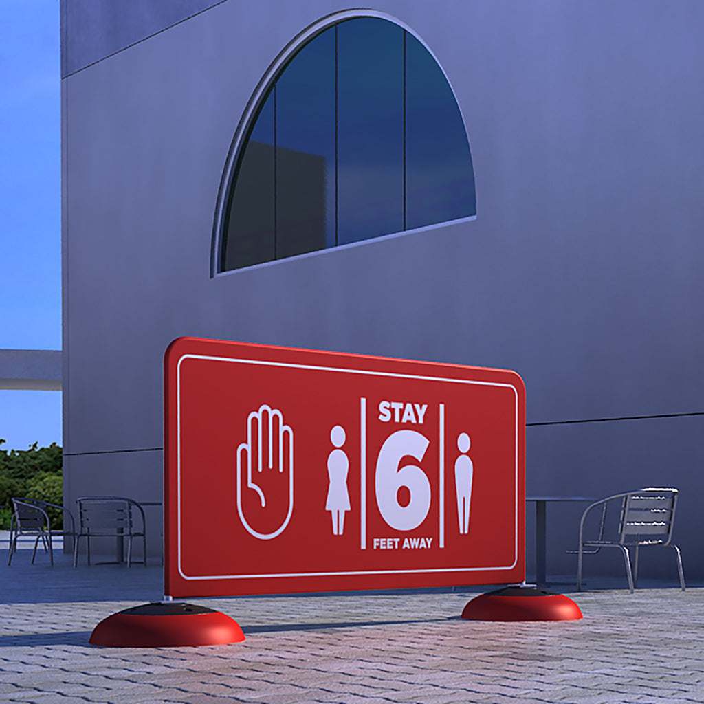 WaveLine Control Barrier and partition sign for messaging outdoors - 80M