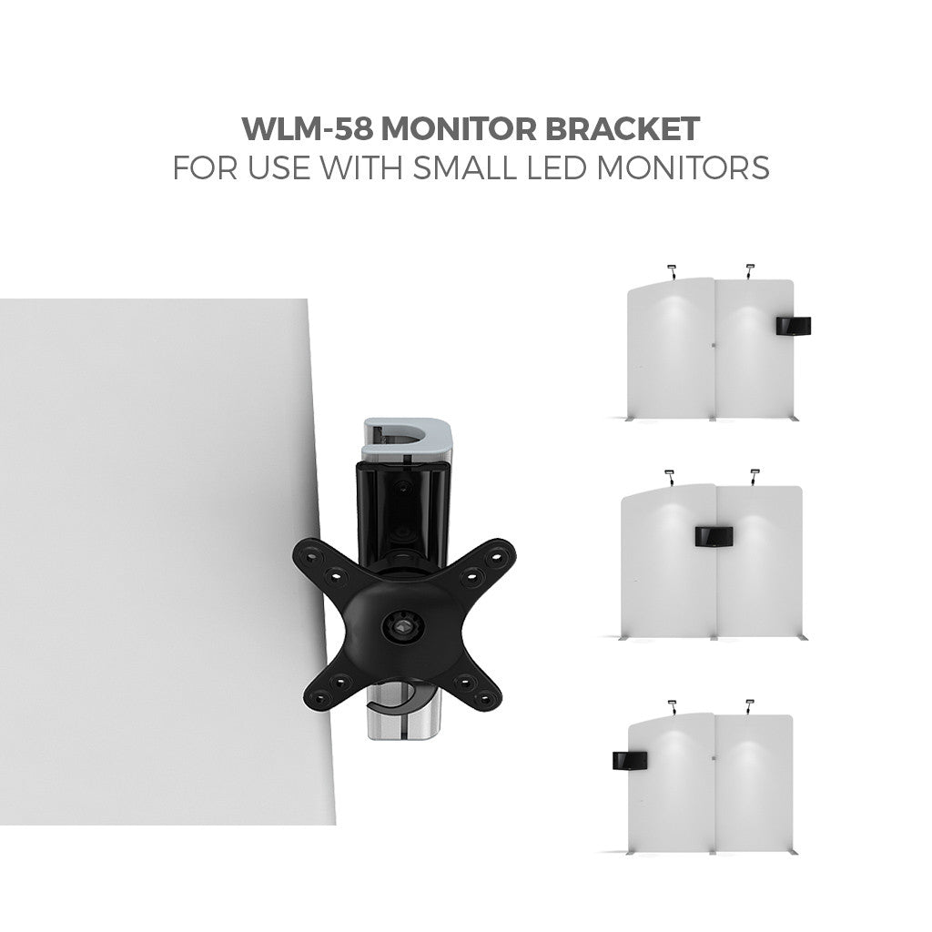 Makitso WLM-58 Monitor Bracket for WavelineMedia Tension Fabric Displays