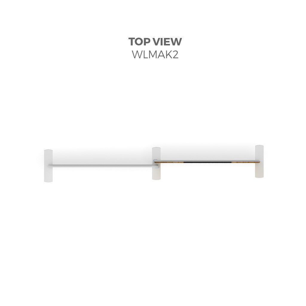 Makitso WLMAK2 Waveline Media Tension Fabric Display Kit top view