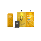 WaveLine Media® Display Kit WLMKK with banner stand