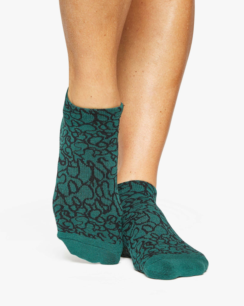 Abstract Grip Sock
