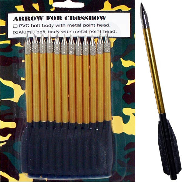 12 PC Aluminum Arrows, , Panther Trading Company- Panther Wholesale