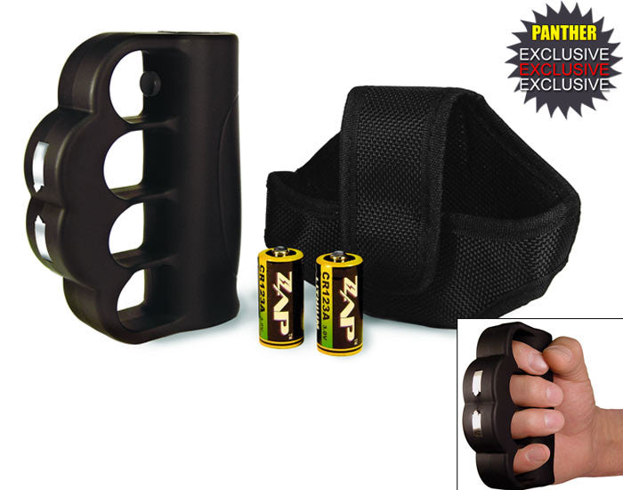 950,000 Volt ZAP Blast Knuckle Stun Gun w/ Holster/Batteries, , Panther Trading Company- Panther Wholesale