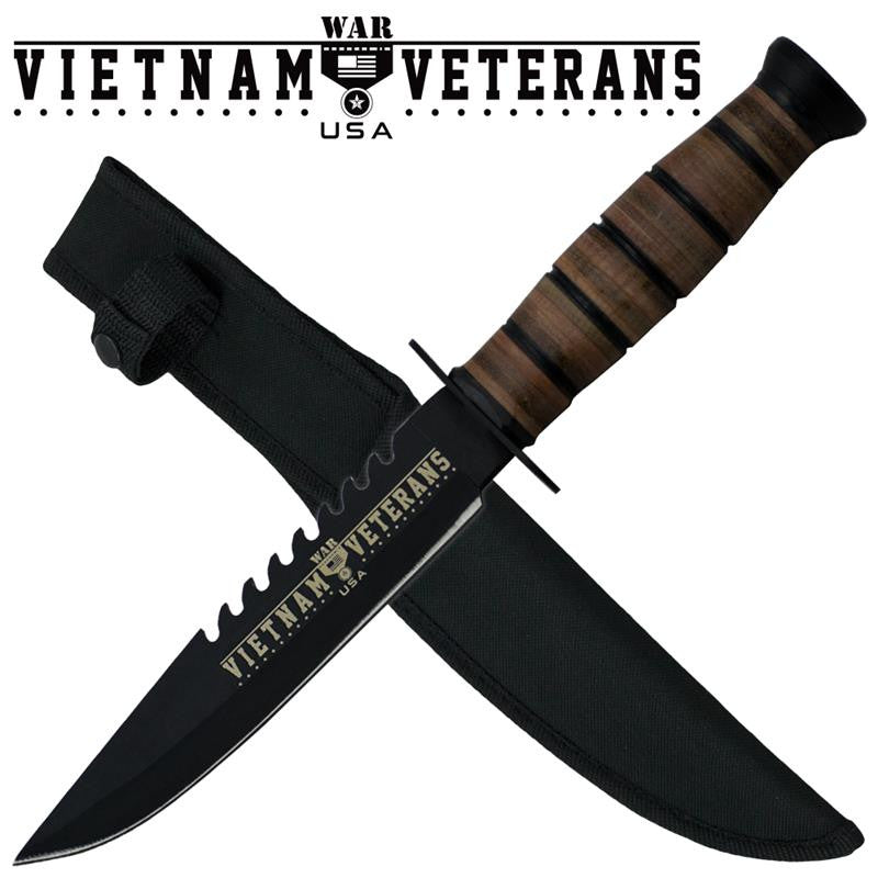 Vietnam Veterans Military Knife W/ Free Hard Sheath, , Panther Trading Company- Panther Wholesale