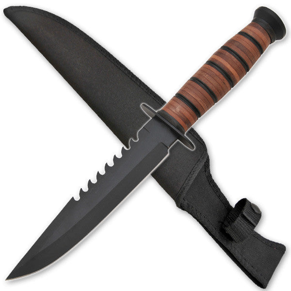 Hand To Hand Combat Military Knife W/ Free Hard Sheath, , Panther Trading Company- Panther Wholesale