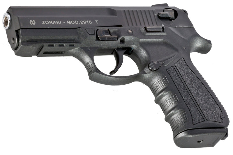 ZORAKI 2918 GAS & SIGNAL, BLANK PISTOL, BLACK, TOP FIRING