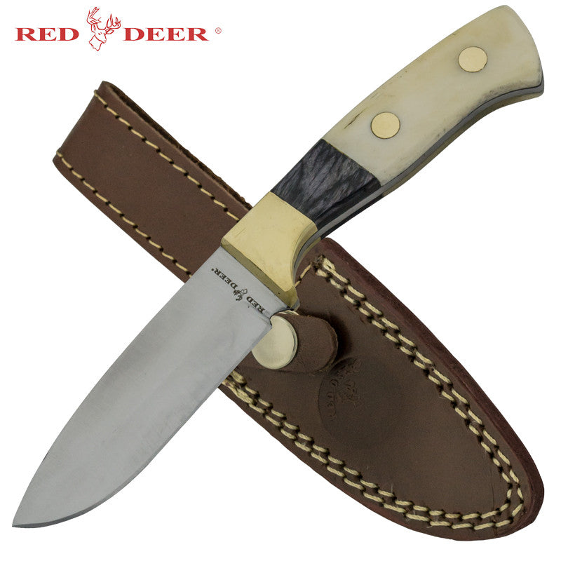 Red Deer Hunting Knife with Animal Bone