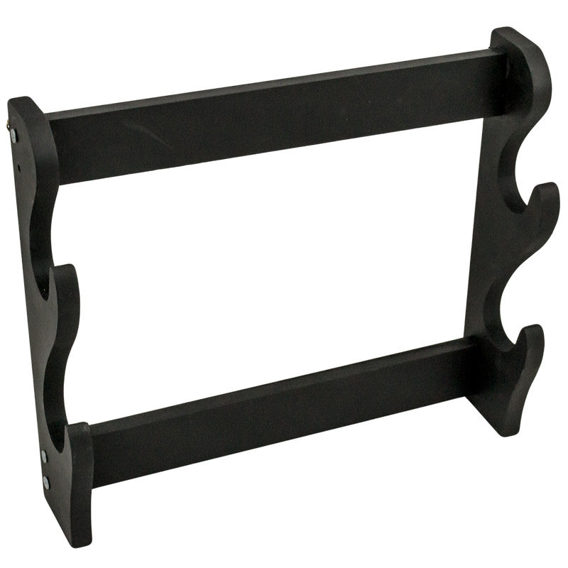 2 Sword Wooden Sword Stand (Black), , Panther Trading Company- Panther Wholesale