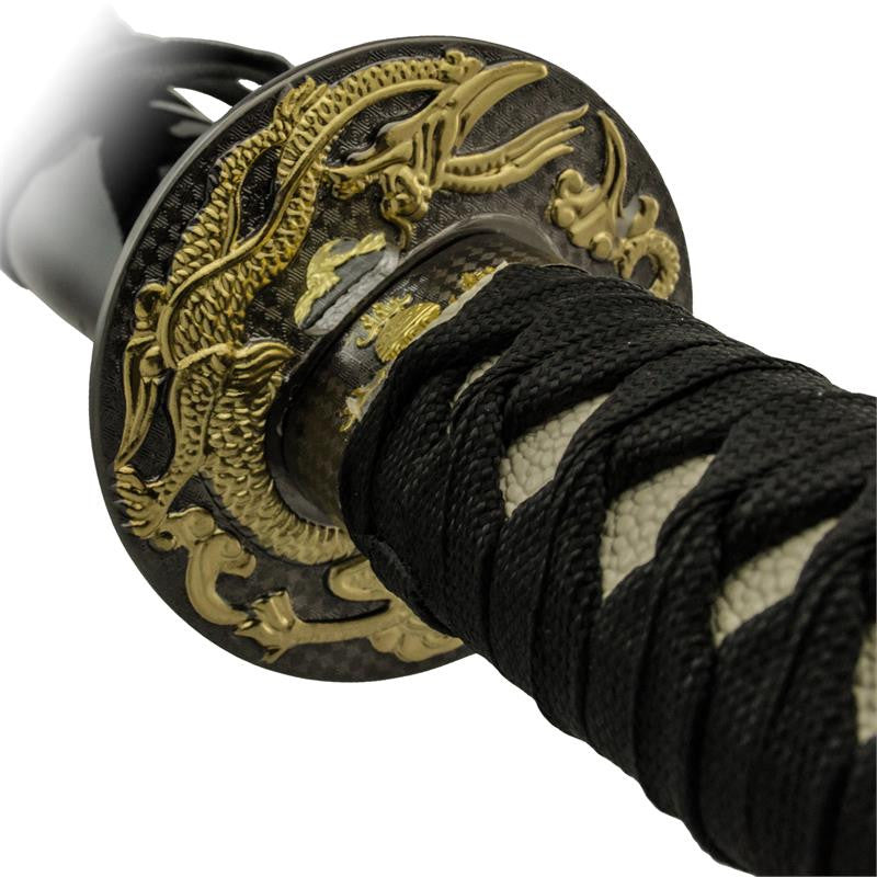 3 PC Atlantis Gold and Black Katana Sword Set, , Panther Trading Company- Panther Wholesale