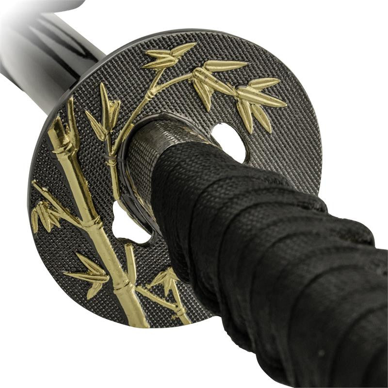 3 PC Flash Gold and Black Katana Sword Set