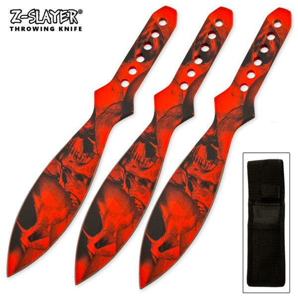 3 Piece Throwing Knife Set Zombified Killer, , Panther Trading Company- Panther Wholesale
