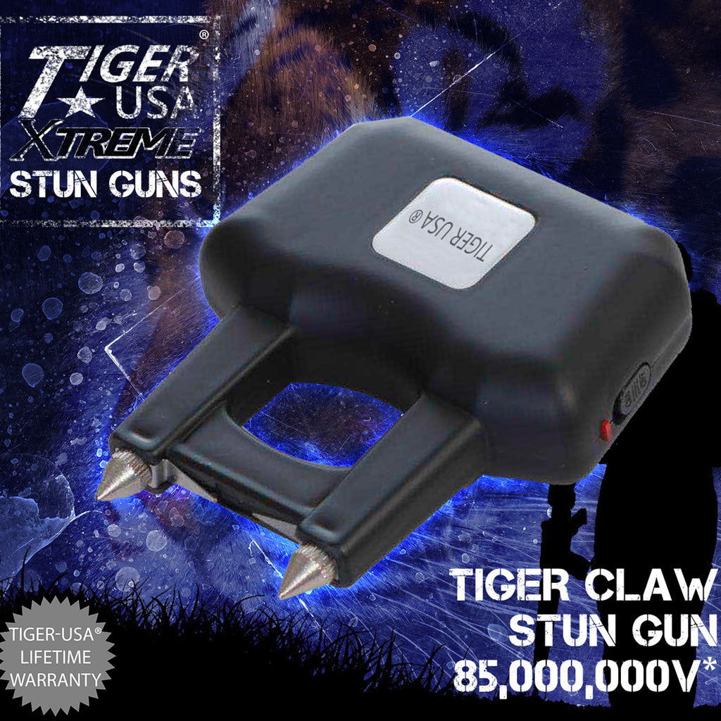 Black 85 Mill Volt Tiger-USA Xtreme Tiger Claw Stun Gun