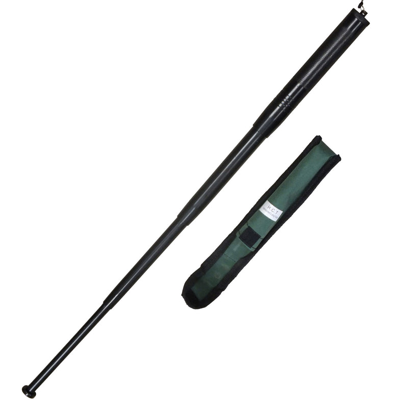 21 Inch Black Baton Police Grade Baton With Sheath