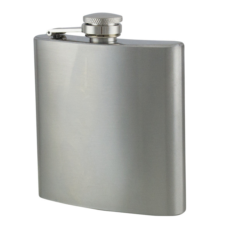 6 oz Stainless Steel Hip Flask, , Panther Trading Company- Panther Wholesale