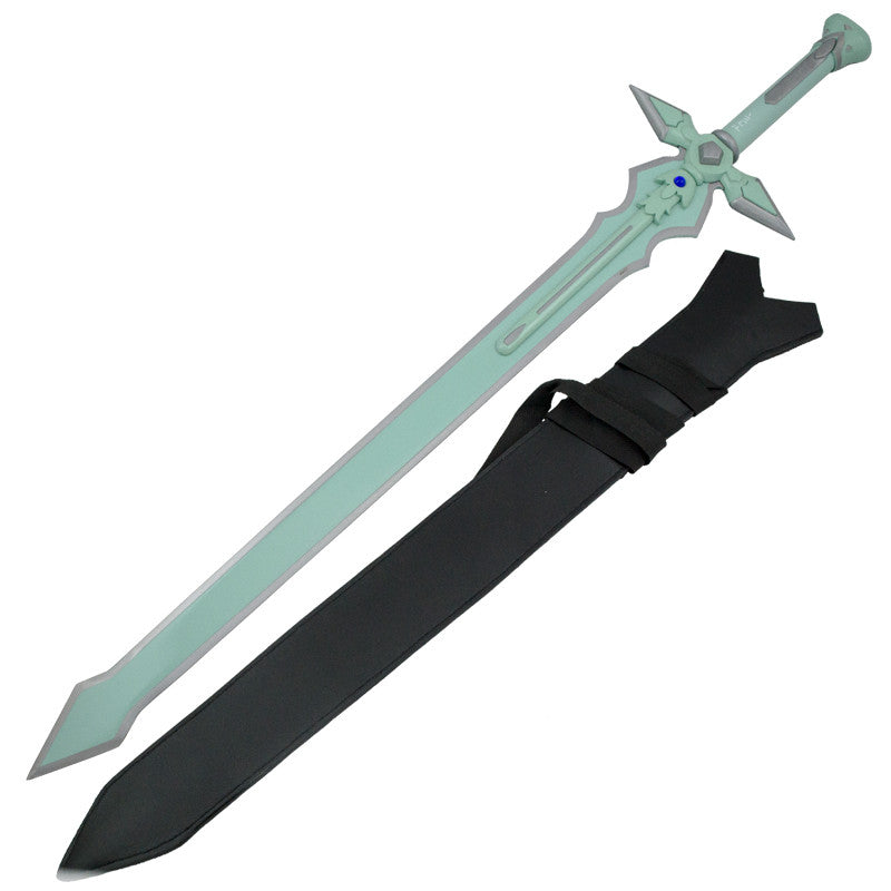 Aqua Green Jewel Fantasy Sword and Sheath