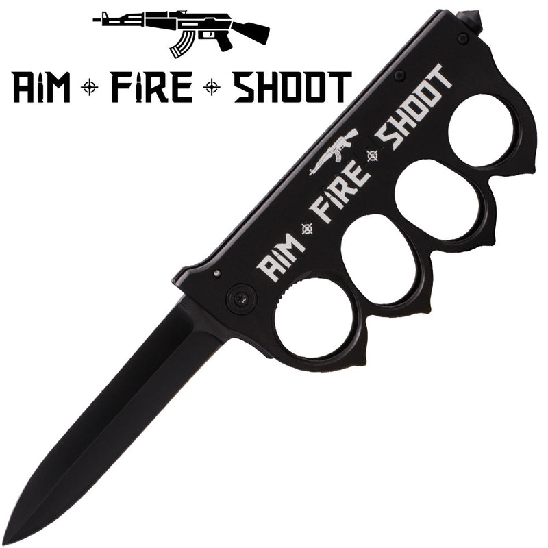 Aim Fire Shoot Brass Buckle Trigger Action Folder, , Panther Trading Company- Panther Wholesale