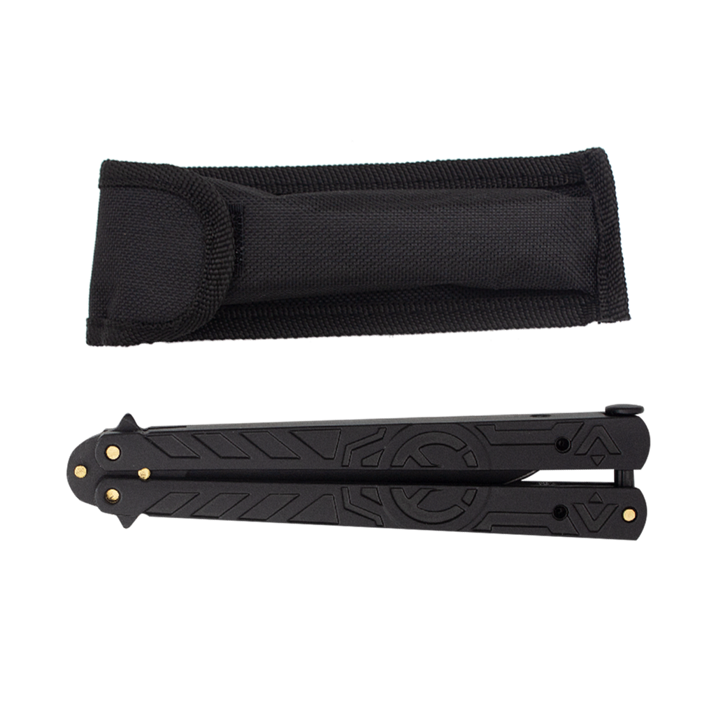 Overlook Flat Black Balisong- Folding Knife