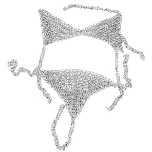 Chain Mail Bikini Top and Bottom, , Panther Trading Company- Panther Wholesale