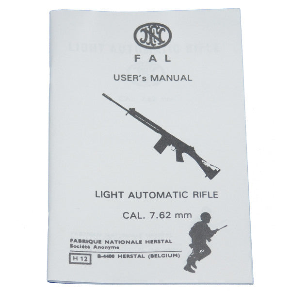 FN FAL User's Manual, Light Automatic Rifle CAL. 7.62mm, , Panther Trading Company- Panther Wholesale