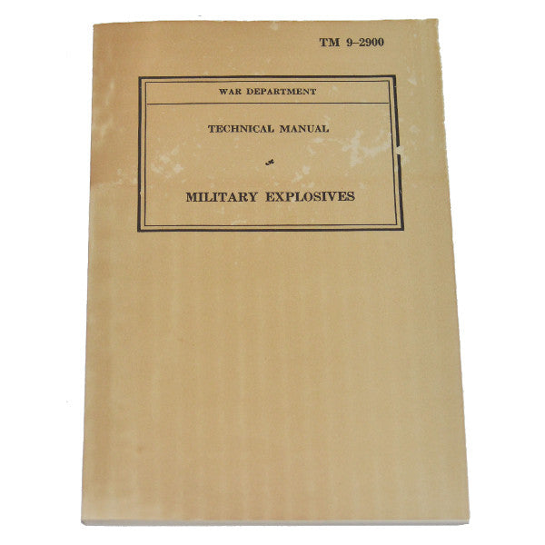 Military Explosives (TM 9-2900), , Panther Trading Company- Panther Wholesale