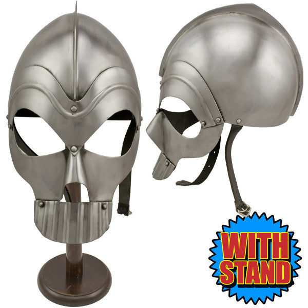 Skull Head Zombie Medieval Helmet w/ Stand, , Panther Trading Company- Panther Wholesale