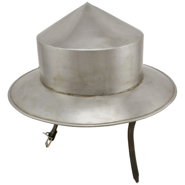 Medieval Silver Kettle Hat Helmet, , Panther Trading Company- Panther Wholesale