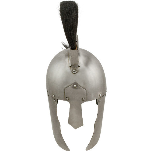 Roman General Helmet with Black Plume, , Panther Trading Company- Panther Wholesale