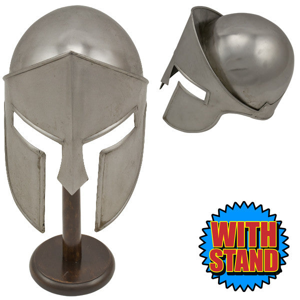 Barbute Warrior Cosplay Helmet with Stand, , Panther Trading Company- Panther Wholesale