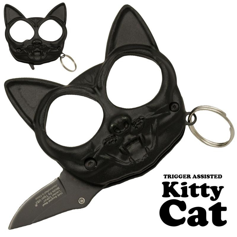 Black Cat Public Safety Jabber and Knife  Black, , Panther Trading Company- Panther Wholesale