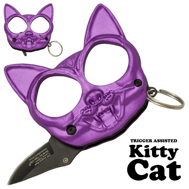 Black Cat Public Safety Jabber and Knife  Purple, , Panther Trading Company- Panther Wholesale