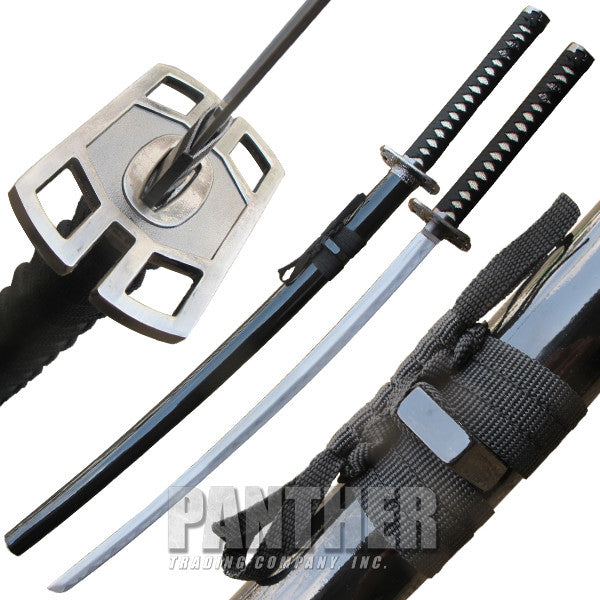 Black Death Ninja Katana Sword with Scabbard, , Panther Trading Company- Panther Wholesale