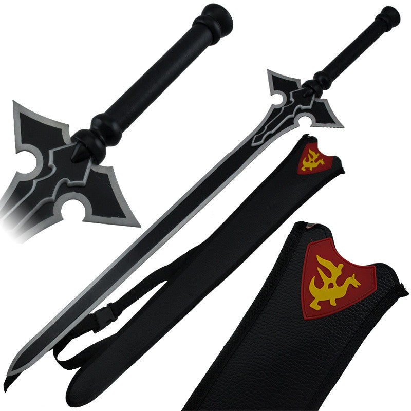 Black Knight Sword of Heaven with Leather Sheath
