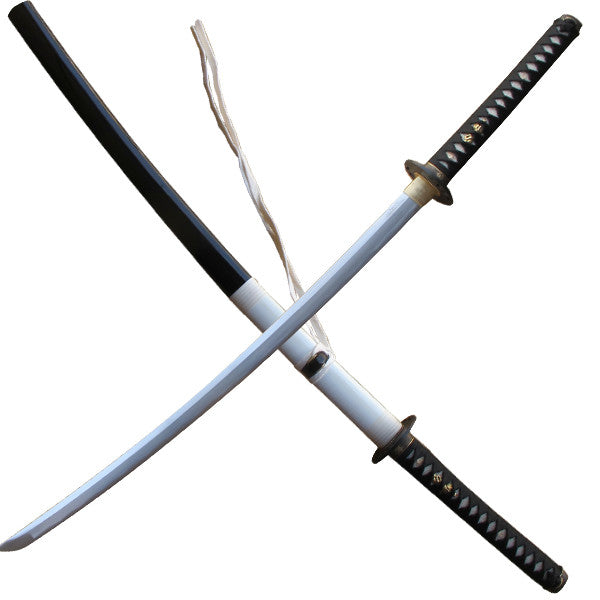 Black, Silver, and Gold Katana Sword with Scabbard, , Panther Trading Company- Panther Wholesale