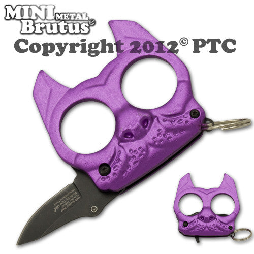 Brutus the Bulldog Defense Keychain and Knife, , Panther Trading Company- Panther Wholesale