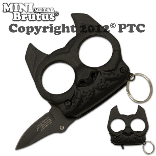 Brutus the Bulldog Defense Keychain and Knife - Panther Wholesale