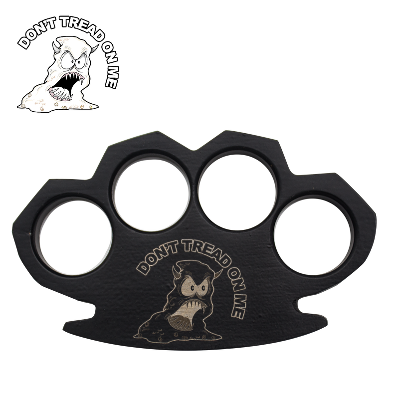 Angry Poo Don't Tread on me Steam Punk Black Solid Metal Paper Weight