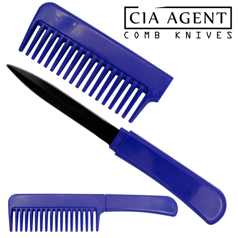 CIA Agent Comb Knife (Blue)