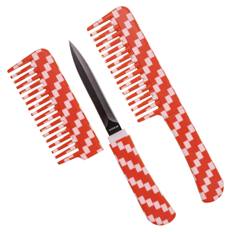 Comb Knife Red Checkers