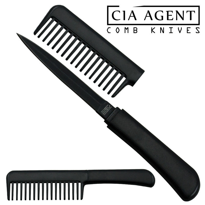 CIA Agent Comb Knife (Black), , Panther Trading Company- Panther Wholesale
