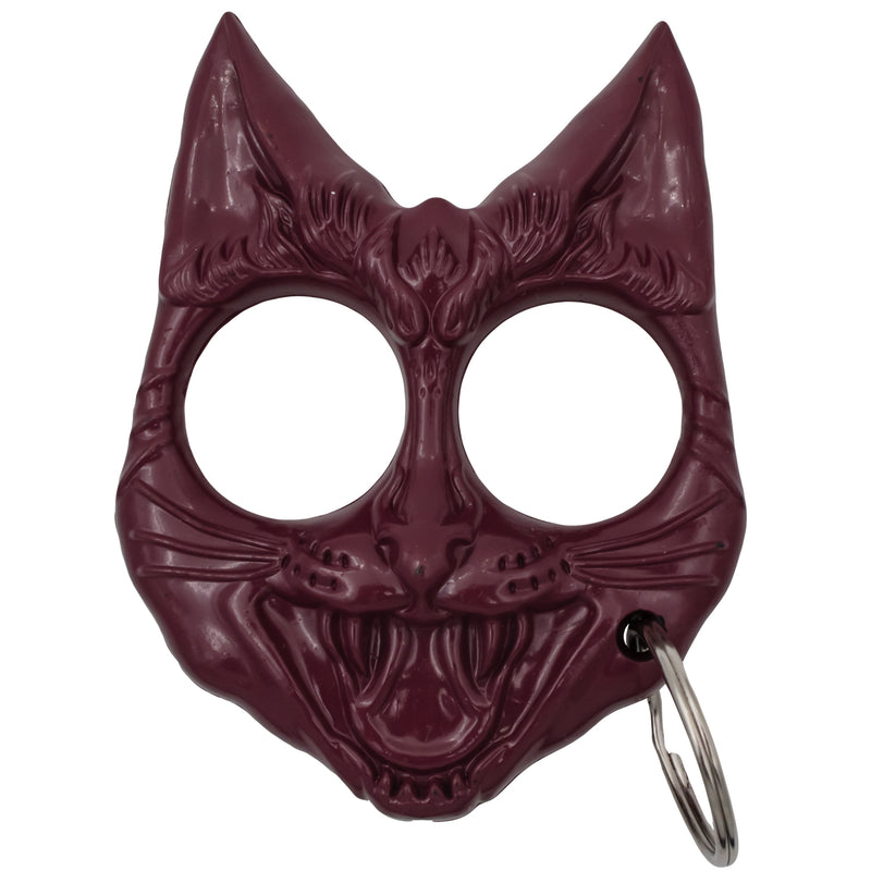 Public Safety Evil Cat Keychain - Wine