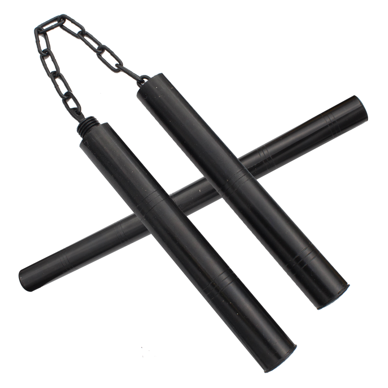 Martial Arts Nunchucks w/ Baton Combo, , Panther Trading Company- Panther Wholesale