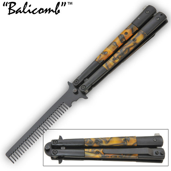 9 Inch Stainless Steel Bali-Comb Tiger Trainer -Yellow