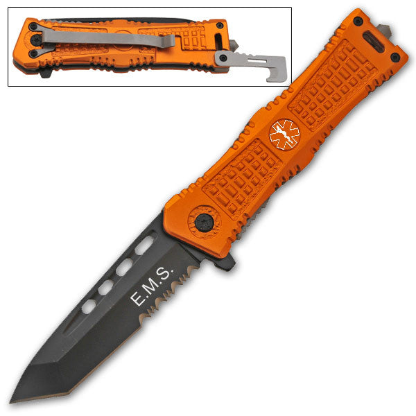 8 Inch Tanto Blade Trigger Action Knife