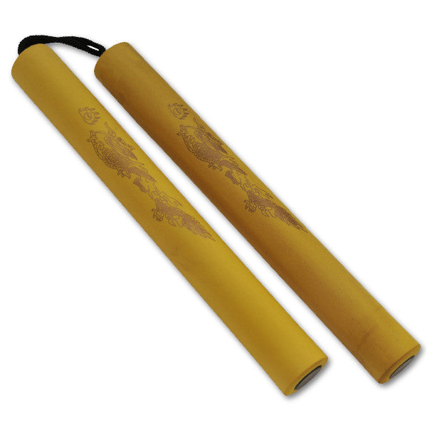 Foam Practice Nunchucks (Yellow) W/ Rope - Panther Wholesale