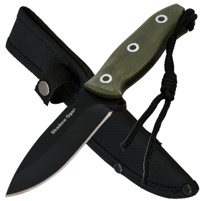 Shadow Ops Tactical Fixed Blade Knife With G-10 Handle, , Panther Trading Company- Panther Wholesale